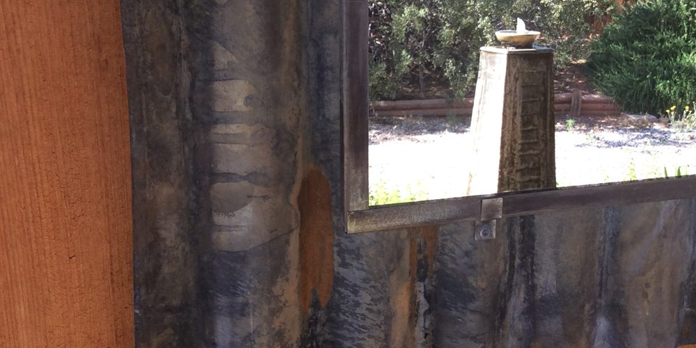 Corrugated steel // mirror // reflection // Mike Dumas Copper Designs.