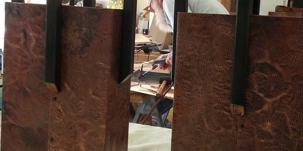 Outdoor Kitchen // Copper Chandelier // Mike Dumas Copper Designs