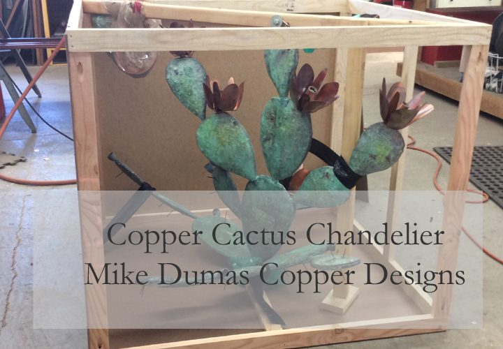 Copper Chandelier // Cactus lighting by Mike Dumas Copper Designs.